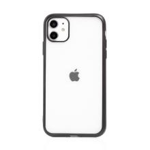 Kryt FORCELL Electro Matt pro Apple iPhone 11 - gumový - průhledný / černý