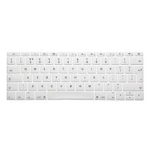 Kryt klávesnice ENKAY pro Apple MacBook 12 / Pro 13 (2016) bez Touch Baru - silikonový - bílý - EU verze