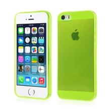 Kryt pro Apple iPhone 5 / 5S / SE (tl. 0,5mm) - antiprachová záslepka - průhledný - žlutozelený