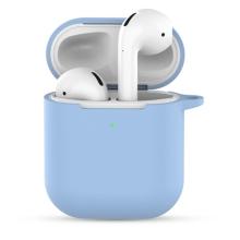Pouzdro / obal pro Apple AirPods 2019 s bezdrátovým pouzdrem - silikonové - modré
