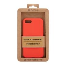 Kryt TACTICAL Velvet Smoothie pro Apple iPhone 7 / 8 / SE (2020) - příjemný na dotek - silikonový - chilli červený
