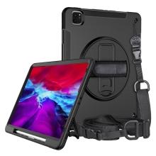 """Kryt / pouzdro pro Apple iPad Pro 12,9"""" (2018 - 2020) - outdoor - odolný - se stojánkem - plastový / silikonový - černý"""