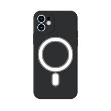 Kryt pro Apple iPhone 11 - MagSafe magnety - silikonový - s kroužkem - černý