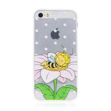 Kryt včelka Mája - pro Apple iPhone - 5 / 5S / SE - gumový - průhledný - zasněná Mája