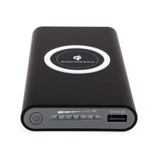 Externí baterie / power bank YOGEE - podpora bezdrátového nabíjení Qi - 8000 mAh - černá