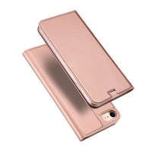 Pouzdro DUX DUCIS pro Apple iPhone 7 / 8 / SE (2020) - umělá kůže - Rose Gold