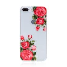 Kryt BABACO pro Apple iPhone 7 Plus / 8 Plus - gumový - průhledný - růže
