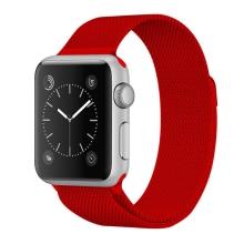 Řemínek pro Apple Watch 41mm / 40mm / 38mm - nerezový - červený