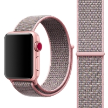 Řemínek pro Apple Watch 40mm Series 4 / 5 / 38mm 1 2 3 - nylonový - růžový