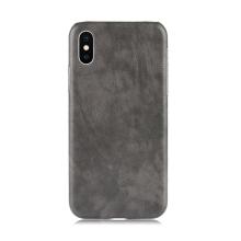Kryt pro Apple iPhone Xr - pevný - plastový / umělá kůže - šedý