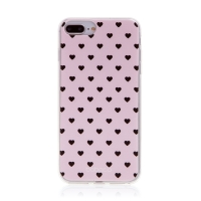 Kryt BABACO pro Apple iPhone 7 Plus / 8 Plus - gumový - srdíčka - růžový