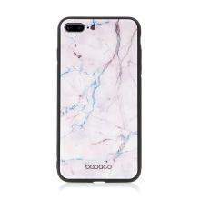 Kryt BABACO pro Apple iPhone 7 Plus / 8 Plus - skleněný - růžový mramor