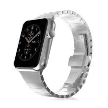 Řemínek pro Apple Watch 40mm Series 4 / 5 / 6 / SE / 38mm 1 / 2 / 3 - ocelový - stříbrný