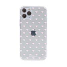 Kryt BABACO pro Apple iPhone 11 Pro - gumový - srdíčka - průhledný