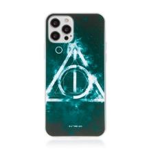 Kryt Harry Potter pro Apple iPhone 12 / 12 Pro - gumový - Relikvie smrti - černý