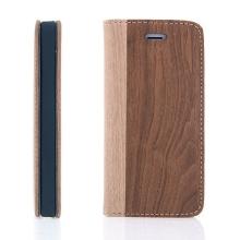 Pouzdro pro Apple iPhone 5 / 5S / SE - stojánek a prostor pro platební karty - vzor dřeva 2