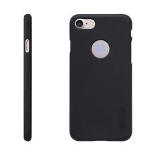 Kryt Nillkin pro Apple iPhone 7 / 8 plastový / jemná povrchová struktura, výřez pro logo - černý + ochranná fólie