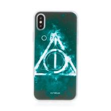 Kryt Harry Potter pro Apple iPhone Xs Max - gumový - Relikvie smrti - černý