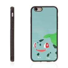 Kryt pro Apple iPhone 6 / 6S - kovový povrch - gumový - Pokemon Go / Bulbasaur 3