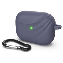 Pouzdro DEVIA pro Apple Airpods Pro - vlnka - silikonové - modré