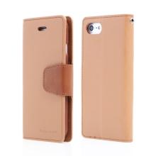 Pouzdro Mercury Sonata Diary pro Apple iPhone 7 / 8/ SE (2020) - stojánek a prostor na doklady - hnědé