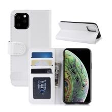 Pouzdro pro Apple iPhone 11 Pro - prostor pro platební karty - umělá kůže - bílé