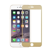 Tvrzené sklo (Tempered Glass) pro Apple iPhone 6 / 6S - zlatý rámeček - 0,3mm