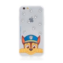"""Kryt """"Tlapková patrola"""" pro Apple iPhone 6 / 6S - gumový - Chase - průhledný"""