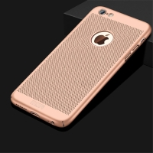 Kryt MOFi pro Apple iPhone 6 / 6S - perforovaný / s otvory - plastový - zlatý