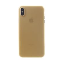 Kryt / obal pro Apple iPhone Xs Max - ochrana čočky - ultratenký - plastový - matný - zlatý