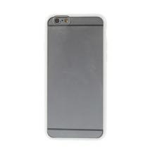 Kryt pro Apple iPhone 6 / 6S - gumový plastový / bílý rámeček - matný průhledný