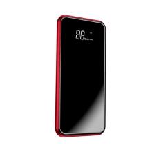 Externí baterie / power bank BASEUS - bezdrátové nabíjení Qi (5W) - 8000 mAh - Micro USB + USB-A - 10W - červená