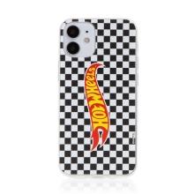 Kryt HOT WHEELS - pro Apple iPhone 12 mini - gumový - šachovnice