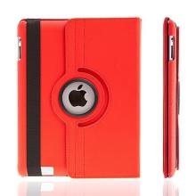 Pouzdro / kryt pro Apple iPad 2. / 3. / 4.gen - 360° otočný držák - červené