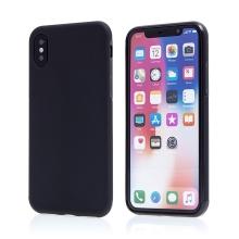 Kryt pro Apple iPhone X - protiskluzový - plastový / gumový - černý