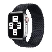 Řemínek pro Apple Watch 44mm Series 4 / 5 / 6 / SE / 42mm 1 / 2 / 3 - bez spony - nylonový - velikost M - černý / tmavě modrý