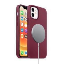 Kryt pro Apple iPhone 12 mini - Magsafe - silikonový - vínový