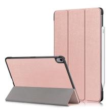 Pouzdro / kryt pro Apple iPad Air 4 (2020) - funkce chytrého uspání - umělá kůže - Rose Gold růžové
