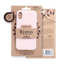 Kryt FOREVER BIOIO - pro Apple iPhone Xr - Zero Waste kompostovatelný kryt - pískově růžový
