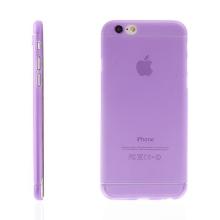 Ultra tenký plastový kryt pro Apple iPhone 6 / 6S - s prvkem pro ochranu skla kamery - fialový