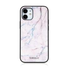Kryt BABACO pro Apple iPhone 12 mini - skleněný - růžový mramor