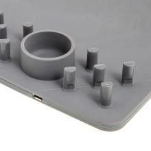 Podložka pod myš + bezdrátová nabíječka / nabíjecí podložka Qi - šedá