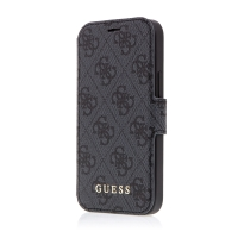 Pouzdro GUESS 4G Book pro Apple iPhone 12 mini - umělá kůže - šedé
