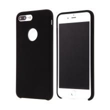 Kryt pro Apple iPhone 7 Plus - gumový - příjemný na dotek - výřez pro logo - černý