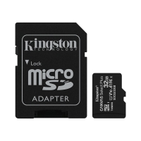 Paměťová karta micro SD HC KINGSTON 32 GB Canvas select Plus (class 10, UHS-I, 100 MB/s) + adaptér