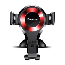 Držák do auta BASEUS Gravity - automatické uchycení - s přísavkou - černý / červený