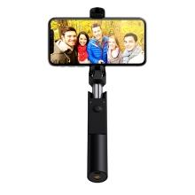 Selfie tyč mini HOCO - Bluetooth spoušť - pevné provedení - zlatá / černá