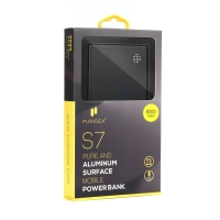 Externí baterie / power bank PURIDEA - 8000 mAh - 2x USB, celkem 3A - černá