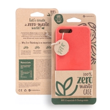 Kryt FORCELL BIO - pro Apple iPhone 7 Plus / 8 Plus - Zero Waste kompostovatelný kryt - červený