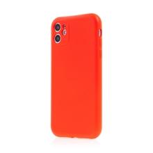 Kryt SWISSTEN Soft Joy pro Apple iPhone 11 - příjemný na dotek - silikonový - červený